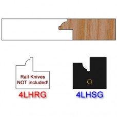 Stile Insert Knife Left Hand (LH) for Glass Doors Profile #4 (Single Knife)