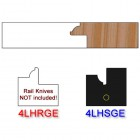 Stile Insert Knife Left Hand (LH) for Glass Doors Profile #4 (with eased Edges for Stain Relief) - (Single Knife)