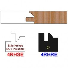 Rail Insert Knife Right Hand (RH) Profile #4 (Eased Edges for Stain Relief)-(Single Knife)