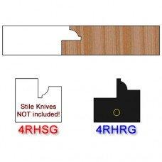 Rail Insert Knife Right Hand (RH) for Glass Doors Profile #4 (Single Knife)