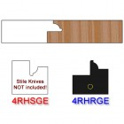 Rail Insert Knife Right Hand (RH) for Glass Doors Profile #4 (with eased Edges for Stain Relief) - (Single Knife)