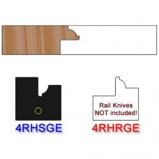 Stile Insert Knife Right Hand (RH) for Glass Doors Profile #4 (with eased Edges for Stain Relief) - (Single Knife)