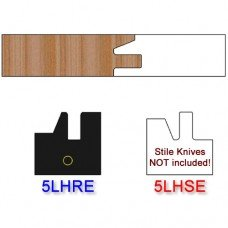 Rail Insert Knife Left Hand (LH) Profile #50 (Eased Edges for Stain Relief)-(Single Knife)