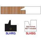 Rail Insert Knife Left Hand (LH) for Glass Doors Profile #50 (Single Knife)