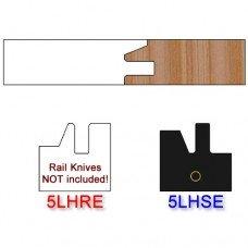 Stile Insert Knife Left Hand (LH) Profile #50 (Eased Edges for Stain Relief)-(Single Knife)
