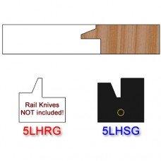 Stile Insert Knife Left Hand (LH) for Glass Doors Profile #50 (Single Knife)