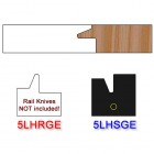 Stile Insert Knife Left Hand (LH) for Glass Doors Profile #50 (with eased Edges for Stain Relief) - (Single Knife)