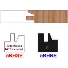 Rail Insert Knife Right Hand (RH) Profile #50 (Eased Edges for Stain Relief)-(Single Knife)