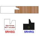 Rail Insert Knife Right Hand (RH) for Glass Doors Profile #50 (Single Knife)