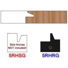 Rail Insert Knife Right Hand (RH) for Glass Doors Profile #50 (Single Knife)