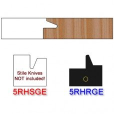 Rail Insert Knife Right Hand (RH) for Glass Doors Profile #50 (with eased Edges for Stain Relief) - (Single Knife)
