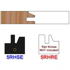 Stile Insert Knife Right Hand (RH) Profile #50 (Eased Edges for Stain Relief)-(Single Knife)