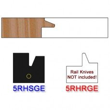 Stile Insert Knife Right Hand (RH) for Glass Doors Profile #50 (with eased Edges for Stain Relief) - (Single Knife)