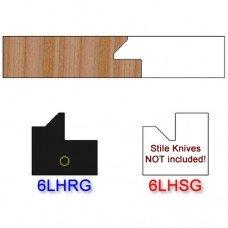 Rail Insert Knife Left Hand (LH) for Glass Doors Profile #51 (Single Knife)