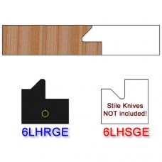 Rail Insert Knife Left Hand (LH) for Glass Doors Profile #51 (with eased Edges for Stain Relief) - (Single Knife)