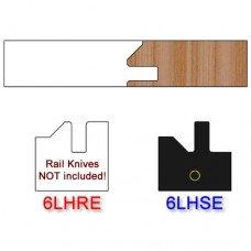 Stile Insert Knife Left Hand (LH) Profile #51 (Eased Edges for Stain Relief)-(Single Knife)