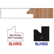 Stile Insert Knife Left Hand (LH) for Glass Doors Profile #51 (Single Knife)