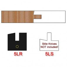 Left Hand (LH) Rail Insert Knife (Centered) for Shaker Style Cabinet Doors Profile #5 with 12 Degree Angle (Single Knife)