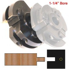 Centered Rail Cutter Head (Shaker Style) with 1-1/4