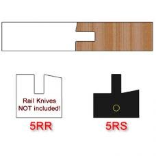 Right Hand (RH) Stile Insert Knife (Centered) for Shaker Style Cabinet Doors Profile #5 with 12 Degree Angle (Single Knife)
