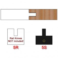 Stile Insert Knife (Centered) for Shaker Style Cabinet Doors Profile #5 (Single Knife)