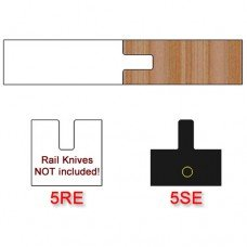 Stile Insert Knife (Centered) for Shaker Style Cabinet Doors Profile #5 with Eased Edges for Stain Relief (Single Knife)