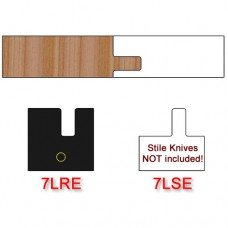 Rail Insert Knife Left Hand (LH) Profile #7 with Eased Edges for Stain Relief (Single Knife)