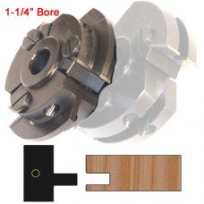 Left Hand (LH) Stile Cutter Head (Shaker Style) with 1-1/4