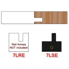 Stile Insert Knife Left Hand (LH) Profile #7 with Eased Edges for Stain Relief (Single Knife)