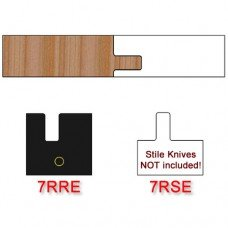 Rail Insert Knife Right Hand (RH) Profile #7 with Eased Edges for Stain Relief (Single Knife)