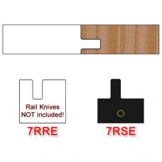 Stile Insert Knife Right Hand (RH) Profile #7 with Eased Edges for Stain Relief (Single Knife)