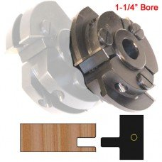 Right Hand (RH) Stile Cutter Head (Shaker Style) with 1-1/4