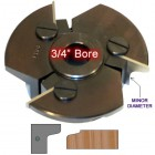 Door Edge Heads with Inserts DE1LH, 3/4