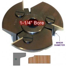 Door Edge Heads with Inserts DE1LH, 1-1/4