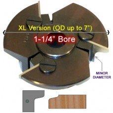 Door Edge Heads with Inserts DE1LH, 1-1/4