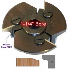 Door Edge Heads with Inserts DE1RH, 1-1/4