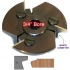 Door Edge Heads with Inserts DE2LH, 3/4