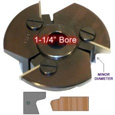 Door Edge Heads with Inserts DE2LH, 1-1/4
