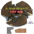 Door Edge Heads with Inserts DE2LH, 1-1/4