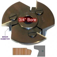 Door Edge Heads with Inserts DE1RH, 3/4
