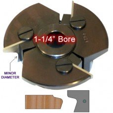 Door Edge Heads with Inserts DE2RH, 1-1/4