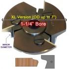 Door Edge Heads with Inserts DE2RH, 1-1/4
