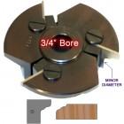 Door Edge Heads with Inserts DE3LH, 3/4
