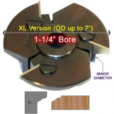 Door Edge Heads with Inserts DE3LH, 1-1/4