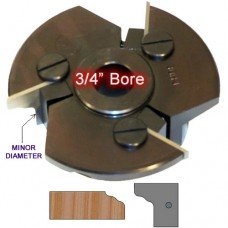 Door Edge Heads with Inserts DE3RH, 3/4