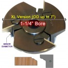 Door Edge Heads with Inserts DE3RH, 1-1/4
