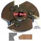 Door Edge Heads with Inserts DE4LH, 3/4