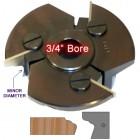 Door Edge Heads with Inserts DE4RH, 3/4