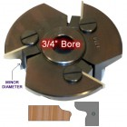 Door Edge Heads with Inserts DE5RH, 3/4