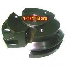 Left Hand (LH) Rail Cutter Head with 1-1/4
